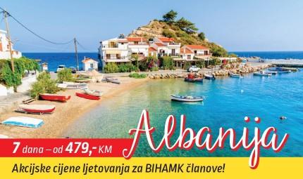 POSEBNA AKCIJA SNIŽENJA CIJENA LJETOVANJA U ALBANIJI ZA SVE ČLANOVE BIHAMK-a