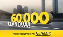 BIHAMK DOSTIGAO REKORDAN BROJ OD 60.000 ČLANOVA