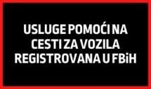 Usluge pomoći na cesti za vozila registrovana u FBiH